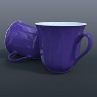 3d model blue mug