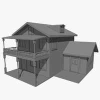free c4d mode house architecture home