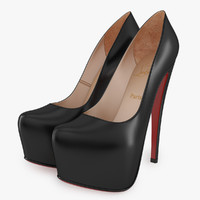 christian louboutin daffodile black 3d model