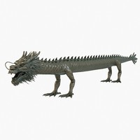 ancient straight dragon 3d model