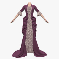 dress empire style female 3d model