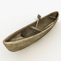 houri boat canoe 3d max