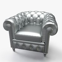 3d chesterfield basic armchair