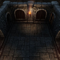 3d model set recess walls grim