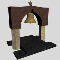 memorial bell second world war 3d max