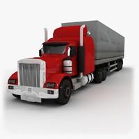 3d model 18 semi truck