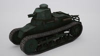 renault nc 31 tank 3d max