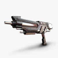 obj sci-fi gun sci