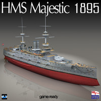 3d model of hms majestic 1895 world war