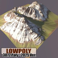 3d mountain games maps model