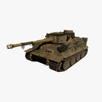 3d model german tiger tank