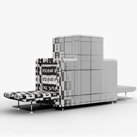 3d airport x-ray machine model