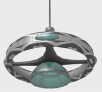 futuristic chandelier 3ds