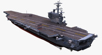 uss aircraft carrier 3d max