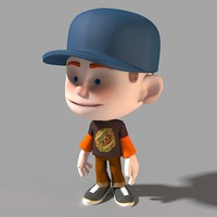 3d cartoon character model