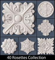 3d model of 40 rosette