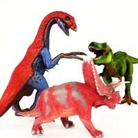 3d model t-rex therizinosaurus pentaceratops