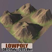 3d model of mountain maps terrain