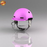 3d model cricket batsman helmet