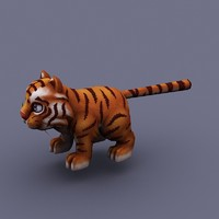 cat funny fun 3d model