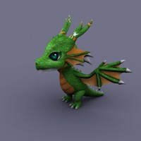 dragon funny fun 3d model