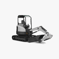 e 26 compact excavator 3ds