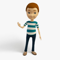 3d cartoon character kid model