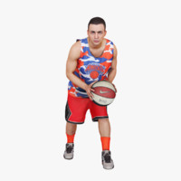 3d model street basketball player