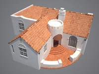 spanish colonial house 3d max