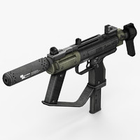 machine gun 3d model