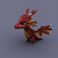 funny dragon red cartoon