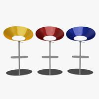 bar seat steel fiber 3d model