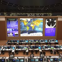 russian mission control center 3d max
