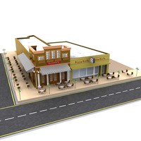 model fast food restaurant