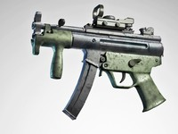 3d model of mp5k compact
