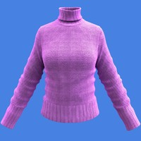 3d female woolen shirt -