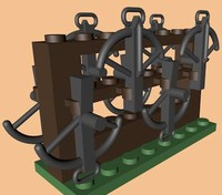 3d lego crossbow rack model