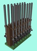 lego lances 3d model