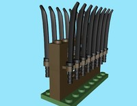 3d lego rack sameria sword model