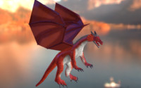 3d rigged medieval dragon
