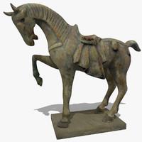 horse statuettes 3d 3ds