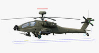 ah64e apache longbow helicopter 3d model