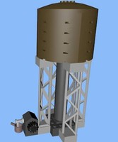 3d model of lego watertower