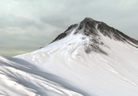 snow mountain 3d ma