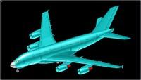 3d airbus a380 aircraft solid model