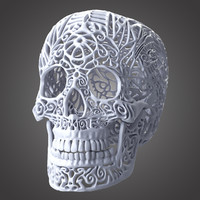 3d model filigree skull
