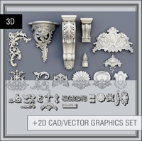 3d swag ornaments model