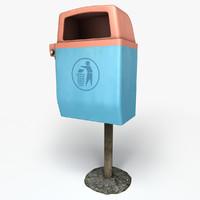 trash dust bin 3d model