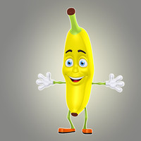 cool cartoon banana max