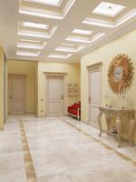 classical interior hallway 3d x